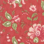 Moda - Porcelain - 3 Sisters - 6326 - Traditional Floral on Red - 44190 16 - Cotton Fabric